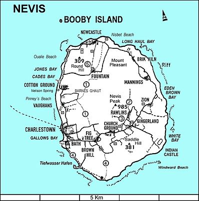 Map of Nevis