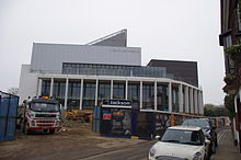 The redevelopment of the Marlowe Theatre in Canterbury, Kent, as seen in mid March 2011.