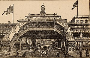 14th Street (IRT Sixth Avenue Line) - Metropolitan Elevated Railroad station, 1882
