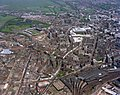 Newcastle Central Station and surrounding area, 1977 (25396574653).jpg