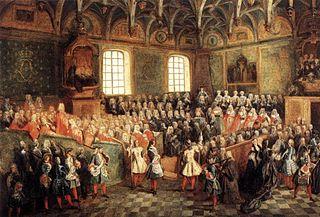 Le lit de justice à la majorité de Louis XV