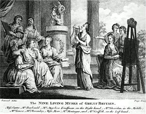 Richard Samuel - The 1777 print showing Britannia rather than Apollo.