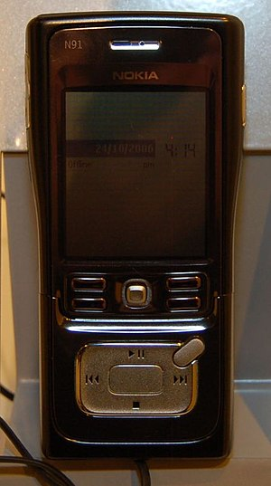 Nokia N91 - The Nokia N91 in standby