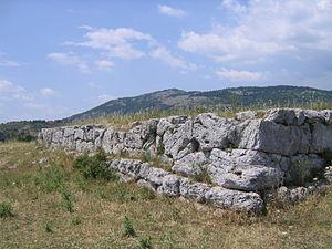 Norba - A polygonal masonry temple podium on the Minor Acropolis of ancient Norba.