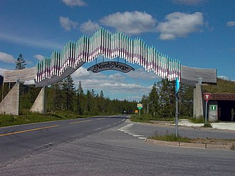 Grane, Nordland - The entrance to North Norway on the E6 highway in southern Grane