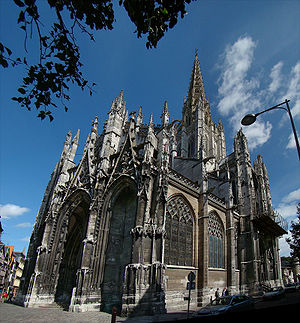 Church of Saint-Maclou - Image: Normandie Seine Rouen 12 tango 7174