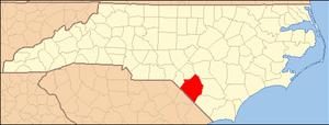 Locator Map of Robeson County, North Carolina,...