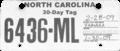 North Carolina motorcycle temporary tag, 2009.png