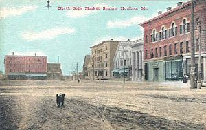 Houlton, Maine - Market Square in 1911