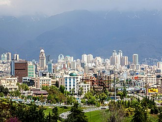 Largest metropolitan areas of the Middle East - Image: North Tehran Towers