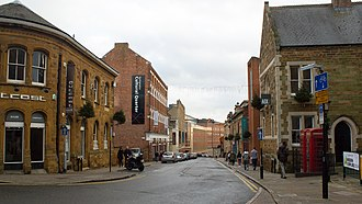 Cultural Quarter, Northampton - Northampton's Cultural Quarter, from the front of the Guildhall looking south down Guildhall Road