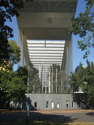Melbourne Museum - Forest Gallery on northern face of Melbourne Museum