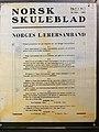 Norway's WW2 Resistance Museum in Oslo (Hjemmefrontmuseet). Norsk skuleblad 1942-02-14, Norges Lærersamband. Photo 2017-11-30.jpg