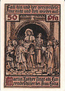 Notgeld Eisenach - Luther auf Wartburg 3