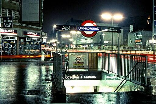 Notting Hill Gate Subway Entrance-1983