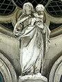 Noyon (60), cathédrale Notre-Dame, cloître, galerie ouest, Vierge à l'Enfant 1.jpg