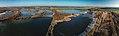Oßling OT Skaska Trado Teiche Aerial Panorama.jpg