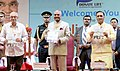 O. P. Kohli releasing the Donate Life Book and presenting the first copy to the President, Shri Ram Nath Kovind, at the felicitation function of the Cadaver Organ Donor Family Members, at Surat, in Gujarat.JPG