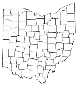 Location of Beach City, Ohio