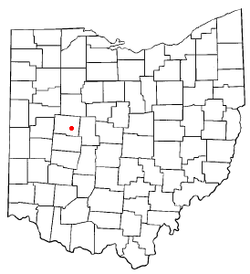 Location of Zanesfield, Ohio