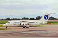 OO-DJV 146-RJ85 Sabena-DAT MAN 20JUN99 (6050712771).jpg