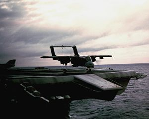OV-10A VMO-1 takes off from USS America (CV-66) 1991.JPEG