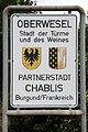 Oberwesel, seit 1961 Partnerschaft mit der Stadt Chablis.jpg