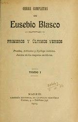 Eusebio Blasco: Español: Primeros y últimos veros