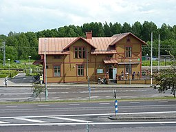 Ockelbo station street side.JPG