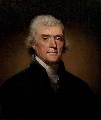 President of the Senate Thomas Jefferson Official Presidential portrait of Thomas Jefferson (by Rembrandt Peale, 1800).jpg
