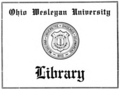 Ohio Wesleyan University bookplate.png