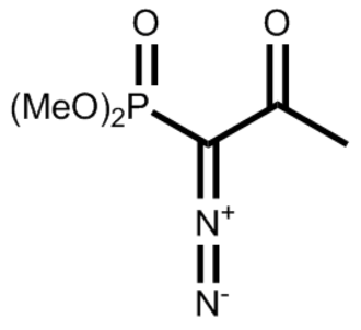 Seyferth–Gilbert homologation - Image: Ohira bestmann reagent 2d skeletal
