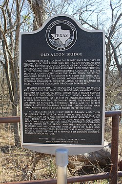 Photo of Old Alton Bridge black plaque