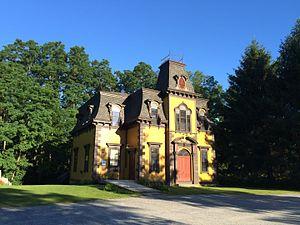 Old Curtisville Historic District - Image: Old Interlaken School House and Community Center, Interlaken, Massachusetts
