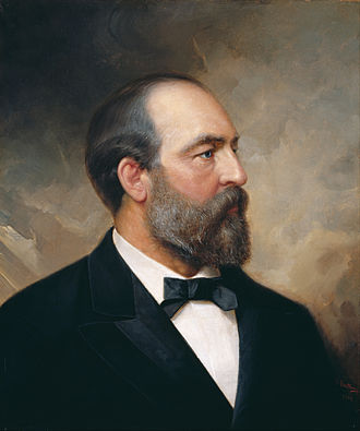 Abingdon (plantation) - National Gallery of Art Portrait of James A. Garfield by Ole Peter Hansen Balling (1881)