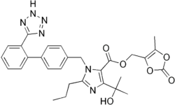 Struktur von Olmesartan