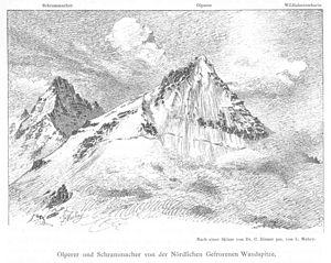 Olperer - The Olperer (right) and Schrammacher