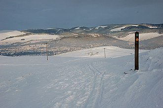 John Buchan Way - A wintry scene on Cademuir Hill