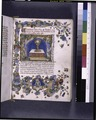 Opening of text, with miniature of consecrated host in a chalice, and with elaborate border design (NYPL b12455533-426278).tif