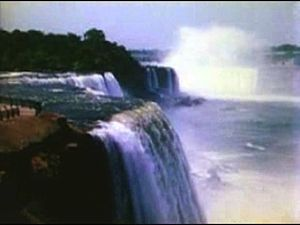 The opening shot of Niagara Falls from the the...