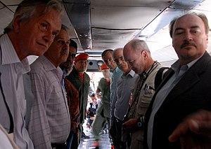 Operation Emmanuel - Hugo Chavez with international guarantors of Operation Emmanuel.