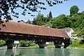 Original wooden roadtraffic bridge across the Aare river at Bern - panoramio.jpg
