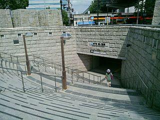 Morinomiya Station Railway and metro station in Osaka, Japan