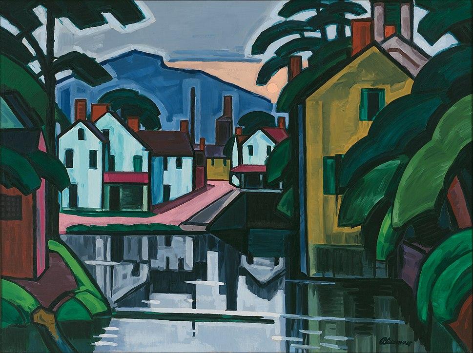 Oscar Bluemner - Old Canal Port - Google Art Project