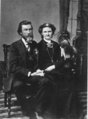 Oscar Columbus Whittlesey and his sister, Sarah Johnson Cogswell Whittlesey (1889).png