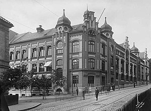 Oslo Cathedral School - Oslo Cathedral School in 1902 (Current building, street view)