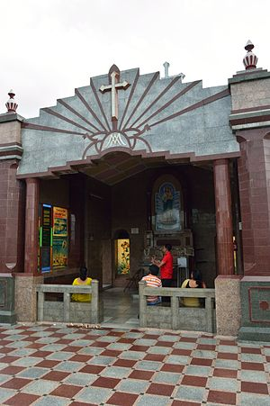 Basilica of the Holy Rosary, Bandel - Our Lady of Happy Voyage Shrine, rooftop Bandel Basilica.