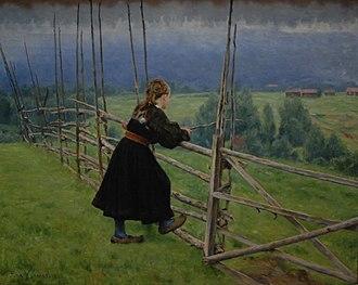 Erik Werenskiold - On the Plain (1883)