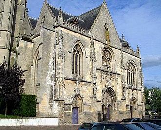 Péronne, Somme - West front of Saint-Jean-Baptiste
