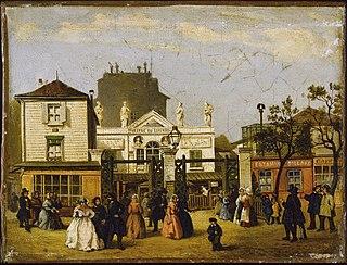 Das Théâtre du Luxembourg, genannt Bobino, rue de Fleurus, um 1845.